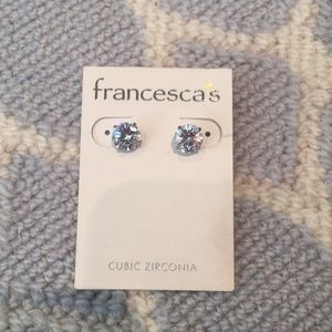 NWT Francesca's cubic zirconia earrings